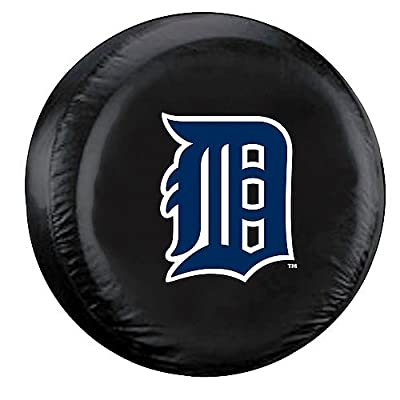 Detroit Tigers Black Tire Cover - Size Large - Licensed MLB Baseball Merchandise
