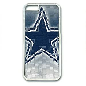 """iphone 6 4.7 Case,Dallas Cowboys Logo-1 Hard Shell Transparent Edges Case for iphone 6 4.7("""")"""