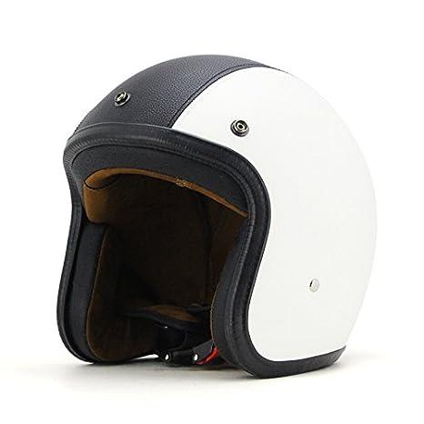 Amazon.com: woljay 3/4 OPEN Face casco, casco para moto Flat ...