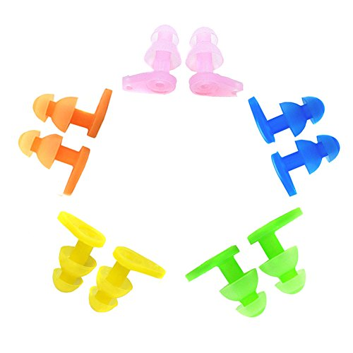 S) Children's Swimming Earplugs Waterproof Soft Silicone Ear Plugs for Kid Swim (Mixed Color) ()