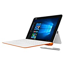 "Asus T102HA-C4-WH Transformer Book 10.1"" 2 in 1 Touchscreen Laptop, Intel Quad-Core, White/Orange, Pen and Keyboard"