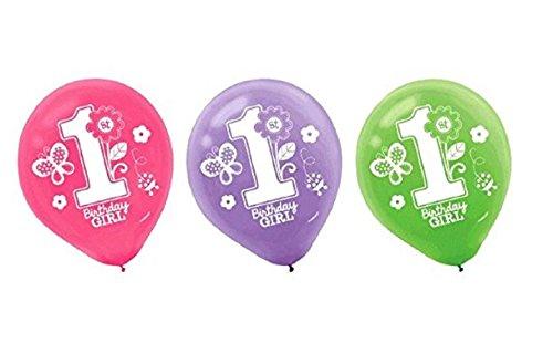 1st Birthday Latex Balloons - 2