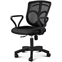 Gotobuy Adjustable Mid-back Mesh Office Chair Rolling