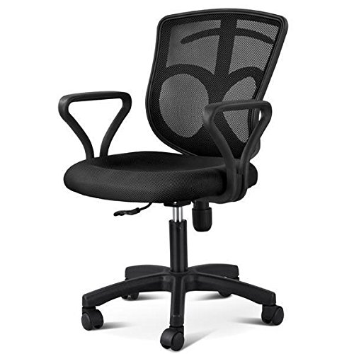 Yaheetech Adjustable Mid-back Swivel Office Desk Chair with