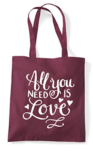 Need Love Statement Is You Tote Burgundy Bag All Shopper Stw51qt
