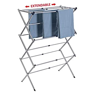 Drynatural Drying Rack for Laundry-Extra Large Expandable Air Dry Rack with 25ft Drying Space-Foldable Clothes Dryer