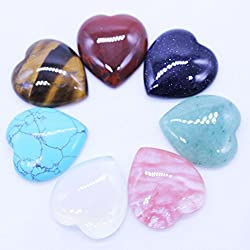 Natural Stone Heart shape charms stone 18mm CAB Beads for jewelry making DIY beads 50Pcs/lot