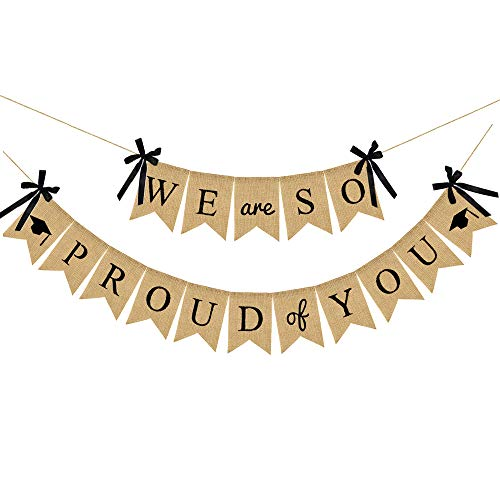 2019 Graduation Party Decorations, Burlap We are So