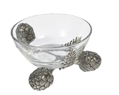 Vagabond House Pewter Artichoke Dip Bowl Large 7