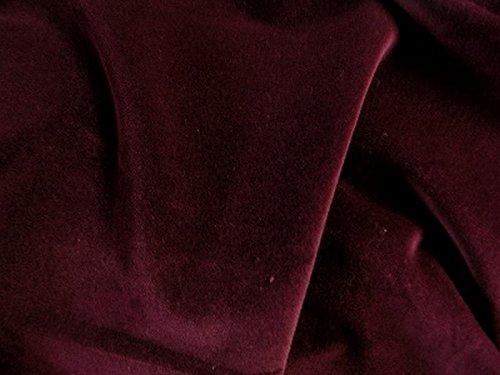Burgundy Cotton Fabric (SyFabrics 100% cotton velvet fabric 56 inches wide Dark Burgundy)
