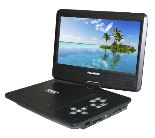 - Sylvania SDVD1030-B 10.1-Inch Portable DVD Player with 5 Hour Battery Life