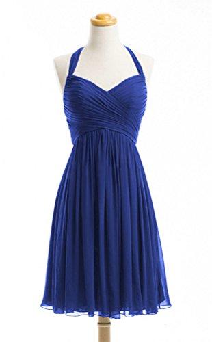 WeiYin Women's Halter Short Party Dress Bridesmaid Dresses Royal Blue US (Designer Bridesmaid Dresses)