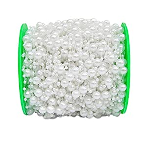 NACOLA 60M/200 Feet Per Roll Fishing Line Artificial Pearls String Beads Chain Garland Flowers Wedding Party Decoration Supplies 87