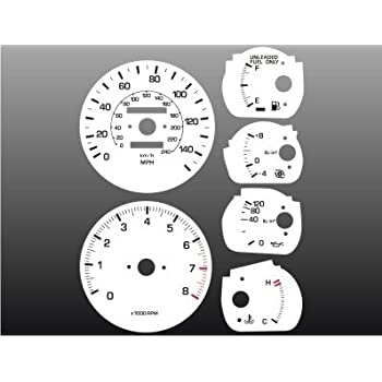 1986-1992 Toyota Supra TURBO 140 mph White Face Gauges