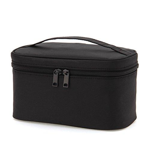 MUJI Nylon Nylon Pouch with Handle Cosmetic Organizer Black New 12.5x20.5x10.5cm ()