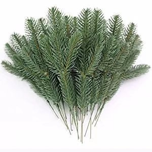 JAROWN 25pcs Artificial Pine Green Leaves Needle Garland for Christmas Embellishing and Home GardenDecor by JAROWN