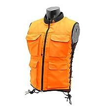 UTG Men's Adjustable Fit(S-M) Sporting Vest, Orange/Black