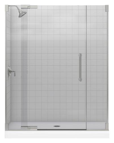 Kohler K-705705-L-NX Purist Heavy Glass Pivot Shower Door, 57 1/4
