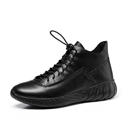 con stivali dei spesso di a affari uomini in haut e fondo colombie dessus black per lacci casual inverno Autunno xtSIHZ