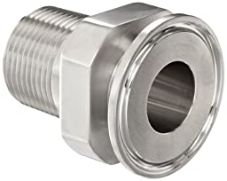 Dixon 21MP-R100 Stainless Steel 304 Sanitary Fitting, Clamp Adapter, 1\