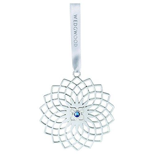 Wedgwood Silver Pierced Snowflake, Blue Crystal