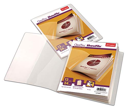 Cardinal ClearThru ShowFile, 12 Pockets, Letter Size, Clear, 1 Each (51532)