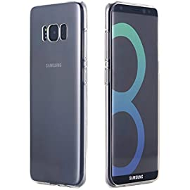 Galaxy S8 Plus Case, AICase [Scratch Resistant] Clear Transparent TPU Soft Hybrid Protective Bumper Case Cover for… 10 Fit For: Specially designed for Samsung Galaxy S8 Plus (2017). Not for Galaxy S8 Premium Material: Made of premium soft TPU. The soft rounded edges make for comfortable grip. Perfect Design: Lightweight case, precise cutouts for complete access to all buttons, cameras, speakers, and ports.