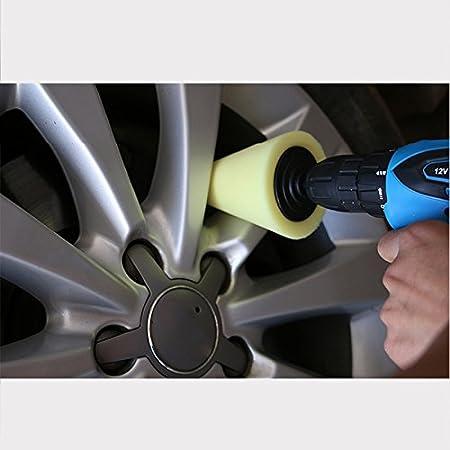 ZREAL 1/pezzi auto mozzo ruota lucidatrice riparazione lucidatura Shank lucidatura spugna cono plastica Schiuma Pad Orange