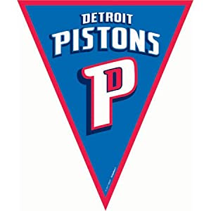 Amscan Amazing Detroit Pistons NBA Pennant Banner, 12', Blue