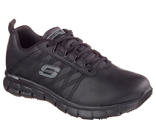 Skechers Work Relaxed Fit Sure Track Erath SR Womens Sneakers Black 8 W by Skechers