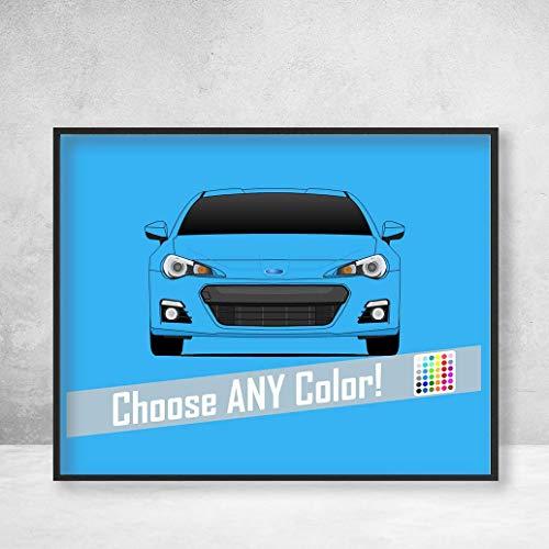 - Subaru BRZ Poster Print Wall Art Decor Handmade