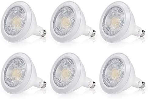 Par38 LED Flood Light Bulb, 18W 120W, Waterproof, Daylight 5000K, Dimmable, Indoor Outdoor, Dimmable, ENSHINE, ETL-Listed, 6pack