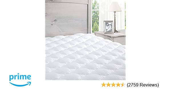 Amazon.com: ExceptionalSheets Pillowtop Mattress Pad with Fitted