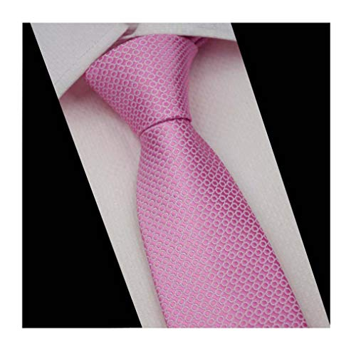 - Men Classic Pink Circles Silk Ties Events Formal Wedding Neckties for Ideal Gift
