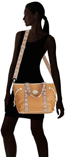 Bolso Big tote De German Couture Poodlebag Hombro bicolor sand Multicolor cognac Mehrfarbig Mujer Sintético Material wnTXCnF