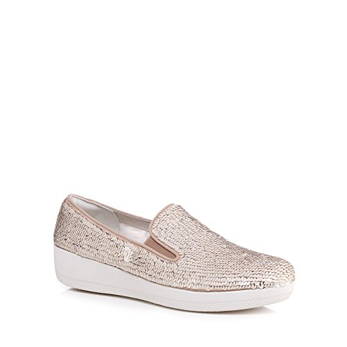 Fitflop Womens Cream Superskate Sequined Trainers z6C9ze7rVj