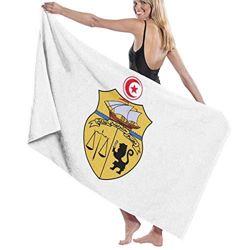 定常公平な役職ビーチバスタオル バスタオル モーリシャス国旗の紋章 レジャーバスタオル 海水浴 旅行用タオル 多用途 おしゃれ White
