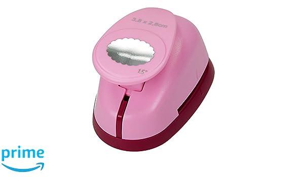 Rosa efco 1793032/Stanzer L 9,5/x 6,5/x 6/cm n/úcleo: Metal Ovalado Dentada estampador