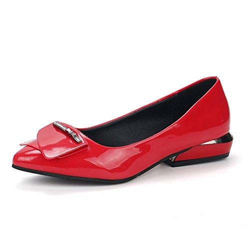Hundert Schuhe,Damenschuhe,Flach Bottom Flach Mund Spitze Schaufel Schuhe,Schwangere Erbsen Und bohnen-Schuhe C