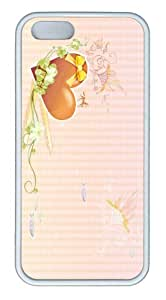 iPhone 5S Customized Unique Landscape Flowers Valentine Heart Shapes New Fashion TPU White iPhone 5/5S Cases