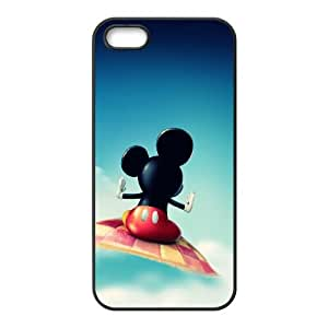 iPhone 5 5s Cell Phone Case Black Mickey Mouse wrb