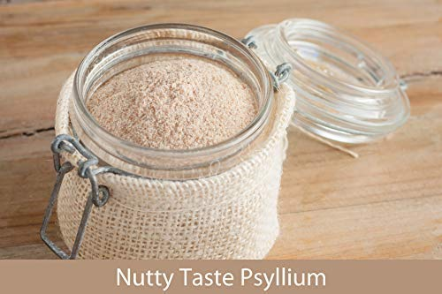 Psyllium Husk Powder Organic by Kate Naturals. Perfect for Baking, Keto Bread and Consuming With Water. Fine Grind. Gluten-Free & Non-GMO. Large Resealable Bag. 1-Year Guarantee (12oz). 4