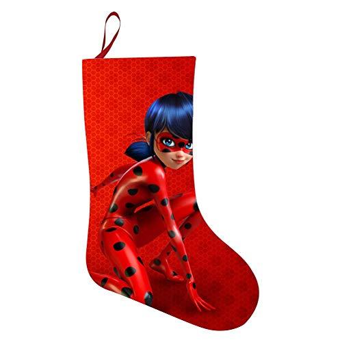 KEITH WRIGHT Christmas Decorative Socks Mi-racu-lous Ladybug Xmas Present Stockings Holiday Hanging Ornaments