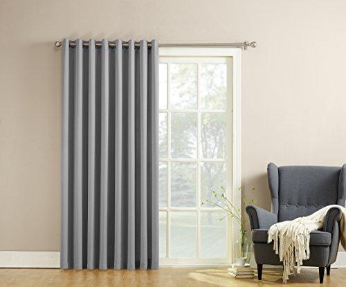 Sun Zero Becca Energy Efficient Patio Door Curtain Panel, 100