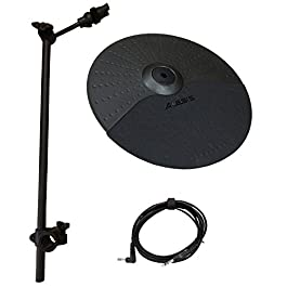 Alesis Nitro Cymbal Expansion Set: 10 Inch Cymbal with Choke, 22in Cymbal Arm, Rack Clamp and 10ft TRS Cable (10 inch…