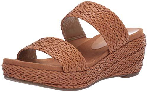 (Anne Klein Women's Zala Wedge Sandal, Black, 5.5 M US)