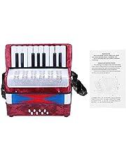 Tbest Acordeón Concertina Accordion Niño 17 Key 8 Bass Mini Acordeón Infantil Juguetes Educativos Infantiles Principiantes Enseñanza de Primera Infancia