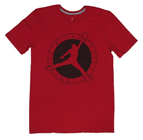 Air Jordan Mens Flight Club Jumpman Logo T-Shirt (Medium, Red)