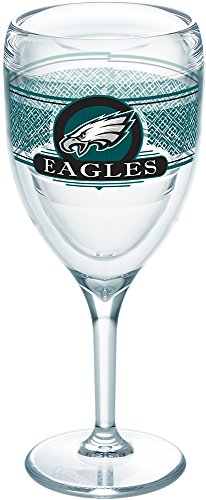 - Tervis 1227761 NFL Philadelphia Eagles Select Tumbler with Wrap 9oz Wine Glass, Clear