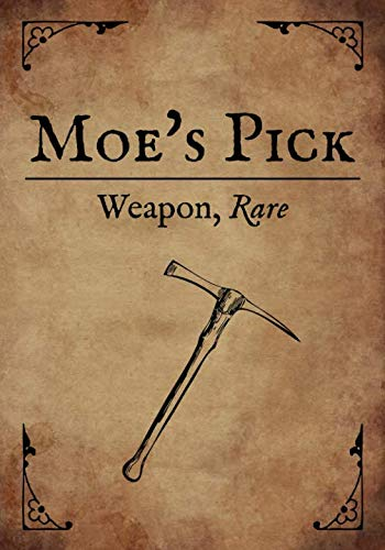 RPG Journal: Blank college ruled notebook for role playing gamers: Weapon: Moe's Pick